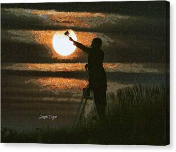 The Moon Keeper - 7 Of 7 Canvas Print by Leonardo Digenio