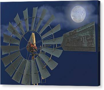 The Moon Spinner Canvas Print by Wendy J St Christopher