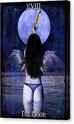 The Moon Canvas Print by Tammy Wetzel