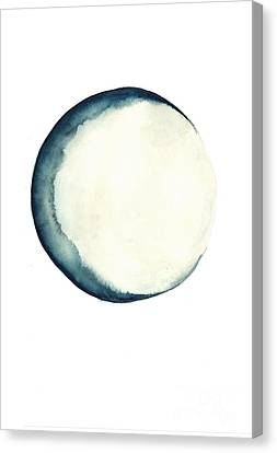 The Moon Watercolor Poster Canvas Print by Joanna Szmerdt