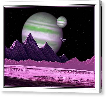 The Moons Of Meepzor Canvas Print by Scott Ross