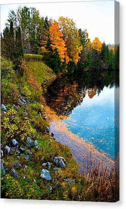 The Moose River In Old Forge New York Canvas Print