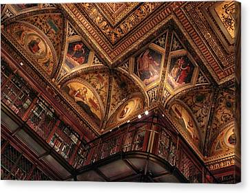 The Morgan Library Ceiling Canvas Print