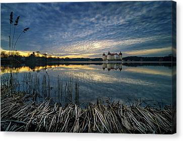 The Moritzburg Castle Is A Baroque Palace In Moritzburg In The German State Of Saxony. Saxony, Germany. Canvas Print