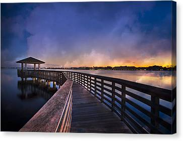 The Morning Dawns Canvas Print by Debra and Dave Vanderlaan