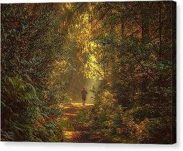 The Morning Jog Canvas Print by Chris Fletcher