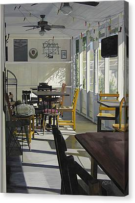 The Morning Paper Canvas Print by Rebecca Zook