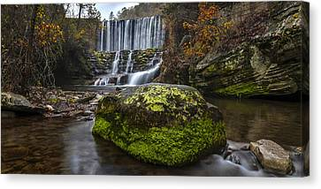 The Mossy Rock Canvas Print