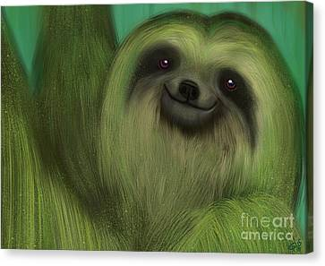 Sloth Canvas Print - The Mossy Sloth by Nick Gustafson