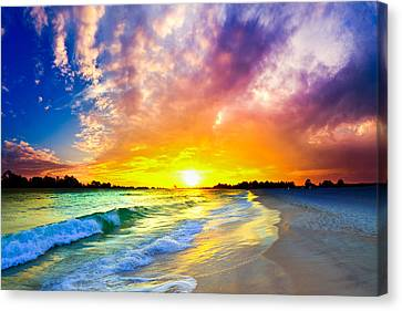 Canvas Print featuring the photograph The Most Beautiful Sunset In The World by Eszra Tanner