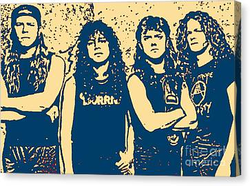 The Most Famous Metal Rockers Canvas Print by John Malone