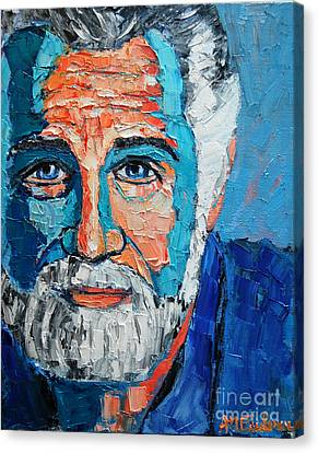 The Most Interesting Man In The World Canvas Print by Ana Maria Edulescu