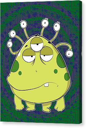 The Most Ugly Alien Ever Canvas Print
