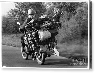 The Motorbike Carrier Canvas Print by Heiko Koehrer-Wagner