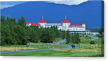 The Mount Washington Hotel Canvas Print by Barbara S Nickerson
