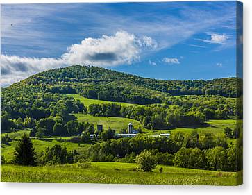 Canvas Print featuring the photograph The Mountain And Sky Landscape by Paula Porterfield-Izzo