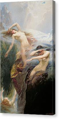 The Mountain Mists Canvas Print by Herbert James Draper