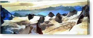 The Mountain Paint Canvas Print by Odon Czintos
