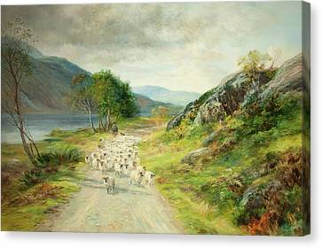 Scottish Dog Canvas Print - The Mountains Of Moidart by John MacWhirter