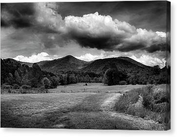 The Mountains Of Western North Carolina In Black And White Canvas Print by Greg Mimbs