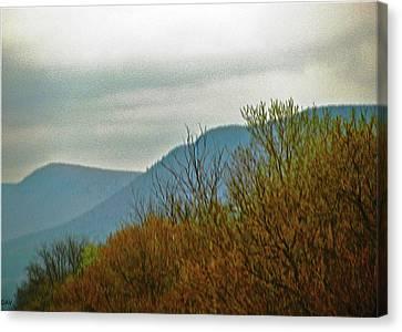 Aesthetic Landscape Image Canvas Print - The Mountains Waken  by Debra     Vatalaro