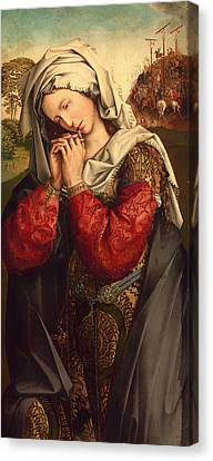 The Mourning Mary Magdalene Canvas Print by Mountain Dreams