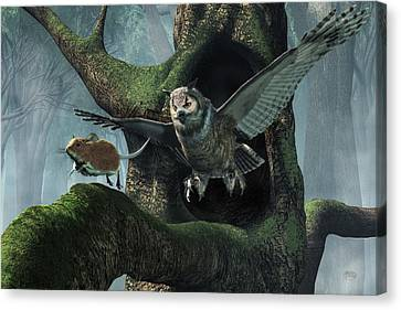 The Mouse And The The Owl Canvas Print by Daniel Eskridge