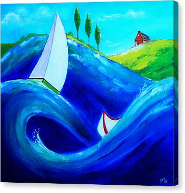 The Moving Ocean Canvas Print