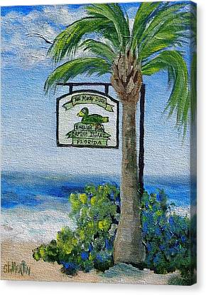 The Mucky Duck Captiva Island Florida Canvas Print by Annie St Martin