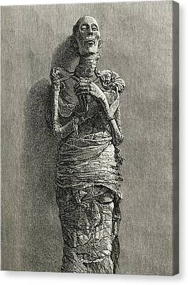 The Mummy Of Ramesses II, Reigned 1279 Canvas Print by Vintage Design Pics