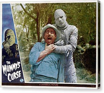The Mummys Curse, From Left Kurt Katch Canvas Print by Everett