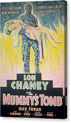 Horror Fantasy Movies Canvas Print - The Mummys Tomb, Lon Chaney, Jr., Elyse by Everett