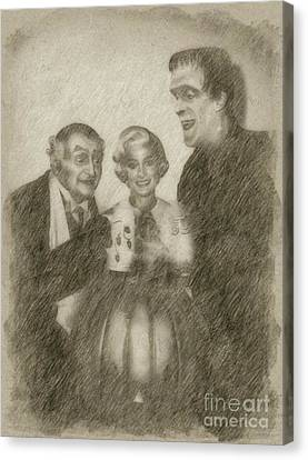 Noir Canvas Print - The Munsters by Frank Falcon