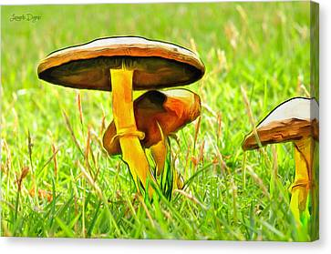 Eat Canvas Print - The Mushroom 2 - Pa by Leonardo Digenio
