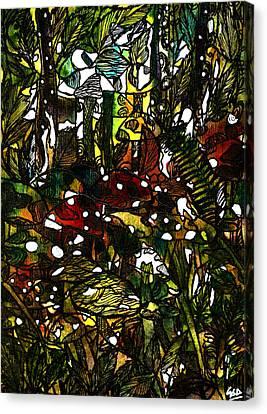 The Mushroom Village Canvas Print by Garima Srivastava