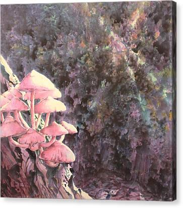 The Mushrooms Life Canvas Print by Saadon Bin Saad