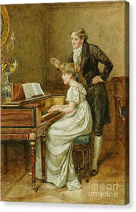 The Music Master Canvas Print by George Goodwin Kilburne