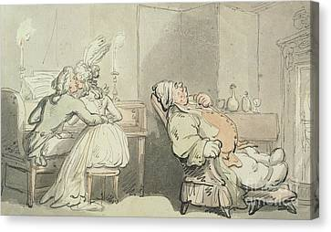 The Music Master Canvas Print by Thomas Rowlandson