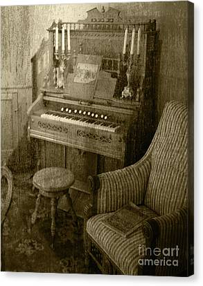 Canvas Print featuring the photograph The Music Parlor by Pete Hellmann