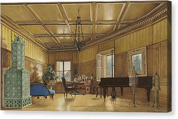 The Music Room Of Archduchess Margarete  Princess Of Saxony Canvas Print