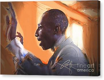 The Musical Director Canvas Print by Bob Salo