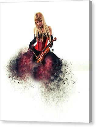 The Musician Canvas Print by Nichola Denny