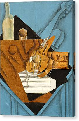 The Musician's Table Canvas Print by Juan Gris