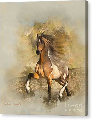 The Mustang Canvas Print by Diana Voyajolu