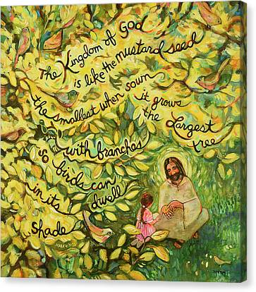 The Mustard Seed Canvas Print by Jen Norton