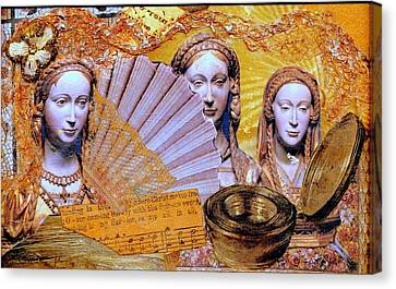 Canvas Print featuring the mixed media The Mystery by Gail Kirtz
