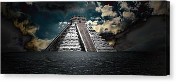 Mystery Canvas Print - The Mystery Of Chichen Itza by Chris Brannen