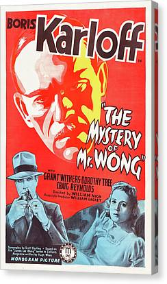 The Mystery Of Mr Wong 1939 Canvas Print