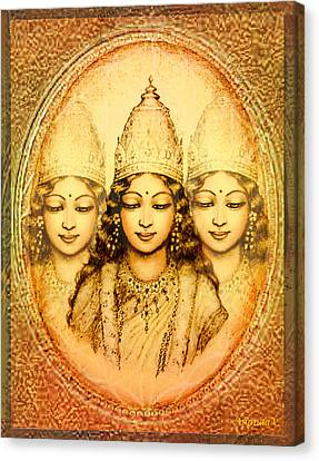 The Mystery Of The Goddess Canvas Print