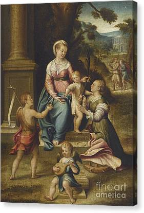 The Mystic Marriage Of Saint Catherine Canvas Print